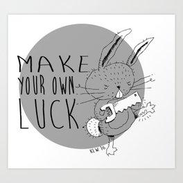 Good Luck, Rabbit! Art Print
