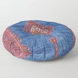 Silk Kashan Central Persian Rug Print Floor Pillow