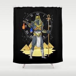 Anubis Egyptian God Ancient Pharaoh King Shower Curtain