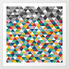 Triangles with Topper Art Print