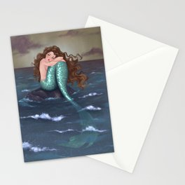 Somber Mermaid Stationery Cards