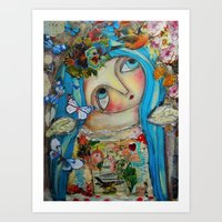 creativity Art Prints featuring Creativity by Dulcamara