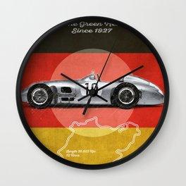 Nürburgring Racetrack Vintage Wall Clock