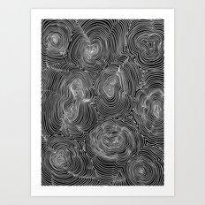 Inverse Contours Art Print