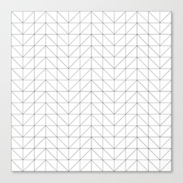 Scandi Grid Canvas Print
