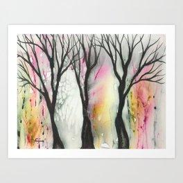 Laguna Trees Art Print