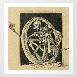 """Bonewheel"" Skeletal wagon wheel skirmisher Art Print"