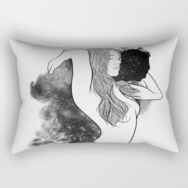 The courage of deeply love. Rectangular Pillow