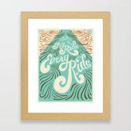 Joy Ride, Every Ride Framed Art Print