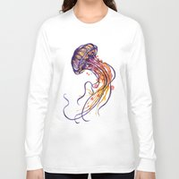 jellyfish Long Sleeve T-shirts featuring Jellyfish by Sam Nagel