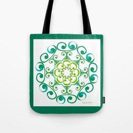 Grace Mandala - Green White Tote Bag
