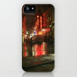 Snowing in London iPhone Case