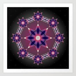 Morning Star Circle (Purple) Art Print
