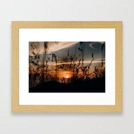 Muriwai Sunset Framed Art Print