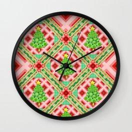 Groovy Festive Christmas Wall Clock