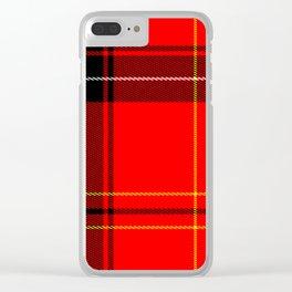 Plain Plaid Clear iPhone Case