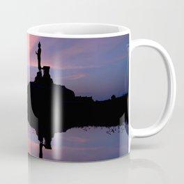 Silhouette of big statue of Buddha Coffee Mug