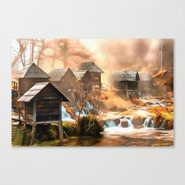Watermills of Jajce Canvas Print