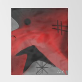 Red Blanket Abstract By Saribelle Rodriguez Throw Blanket