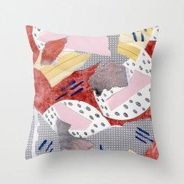 Paper Jumble Throw Pillow