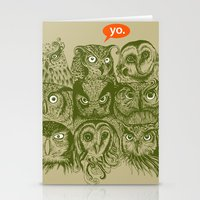 sale Stationery Cards featuring Wisdom to the Nines by Rachel Caldwell