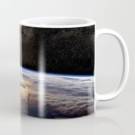 Space Station view of Planet Earth & Milky Way Galaxy Coffee Mug