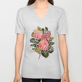 Love and Justice Unisex V-Neck