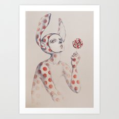 Can't resist the lollipop Art Print