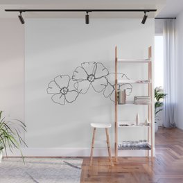 Floral one line drawing - Rita Wall Mural