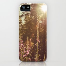 A New Day Wildflowers at Dawn - Nature Photography iPhone Case