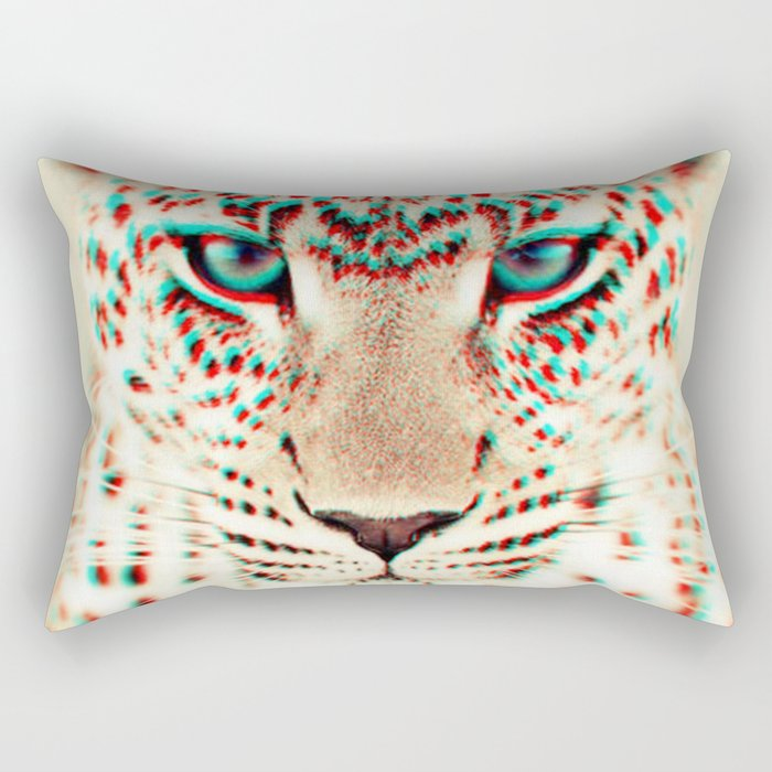 leopard 3D Rectangular Pillow