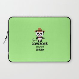 Real Cowboys are from Idaho  T-Shirt for all Ages Laptop Sleeve