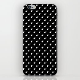 BLACK & WHITE BOMB DIGGITYS ALL OVER LARGE iPhone Skin