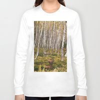 helen Long Sleeve T-shirts featuring Regrowth from Mount Saint Helen by Amanda Picotte