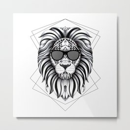 Ornate Cool Lion Metal Print