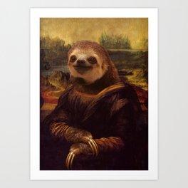Sloth  Mona Lisa Art Print