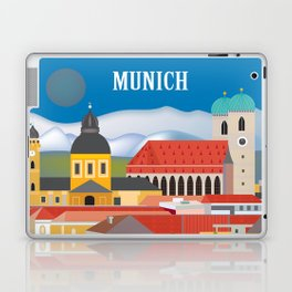 Munich, Germany - Skyline Illustration by Loose Petals Laptop & iPad Skin