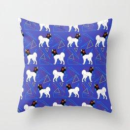 Primary Dogs - Akita Throw Pillow