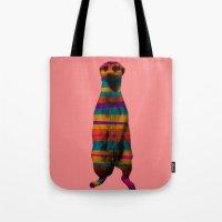 hakuna Tote Bags featuring Hakuna Piñata by Triplea