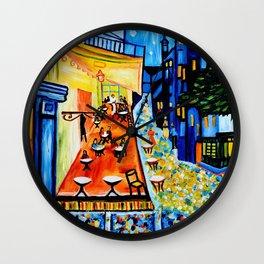 Cafe Terrace - Homage to Van Gogh Wall Clock
