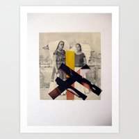 sisters Art Prints featuring Sisters by Mimi Rico
