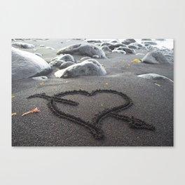 Romance Down the Shore Canvas Print