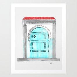 Issaquah Blue Door Art Print