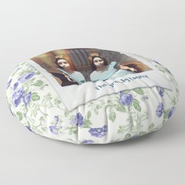 The greedy twins! Floor Pillow