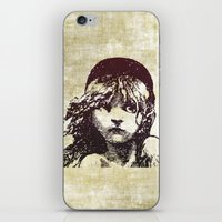 les miserables iPhone & iPod Skins featuring Les Miserables Girl by Pop Atelier