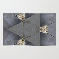 bugs Area & Throw Rugs featuring Alien Bugs by Deborah Janke