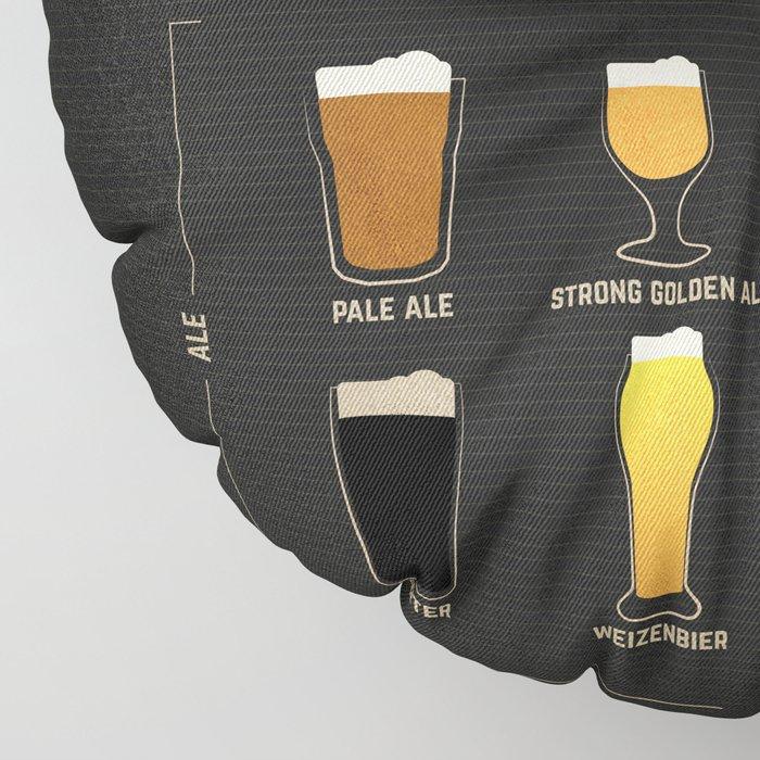 Beer Guide Floor Pillow