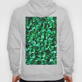 Green Scattered Sequins Hoody