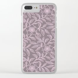 Ballet Slipper Lace Floral Clear iPhone Case
