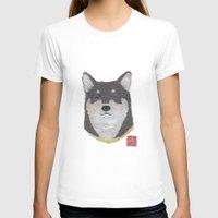 shiba inu T-shirts featuring Shiba Inu, DOG by Bless Hue